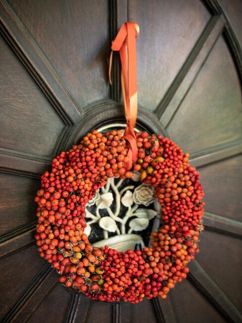 corona de puerta de halloween