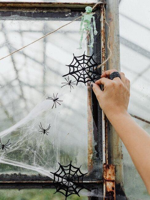 decoracion de halloween tela de araña