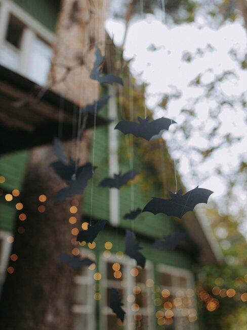 decoración de halloween murciélagos