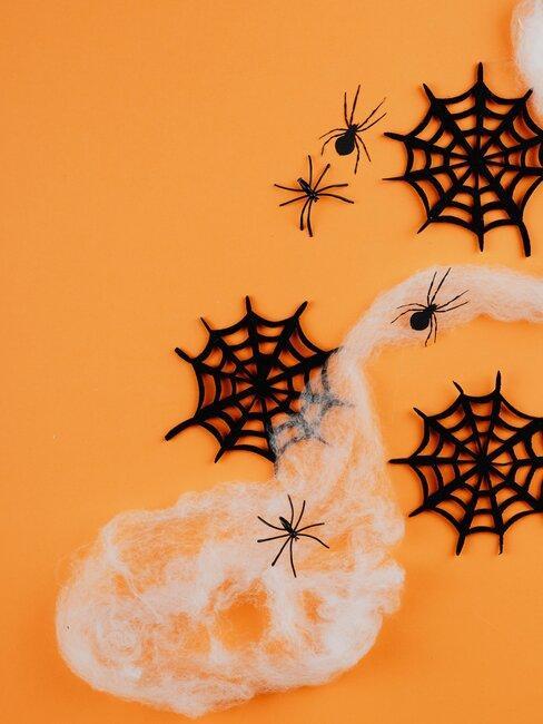 tela de araña manualidades de halloween