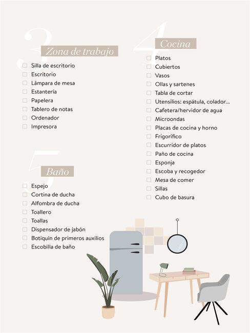 Graphic de checklist amueblar