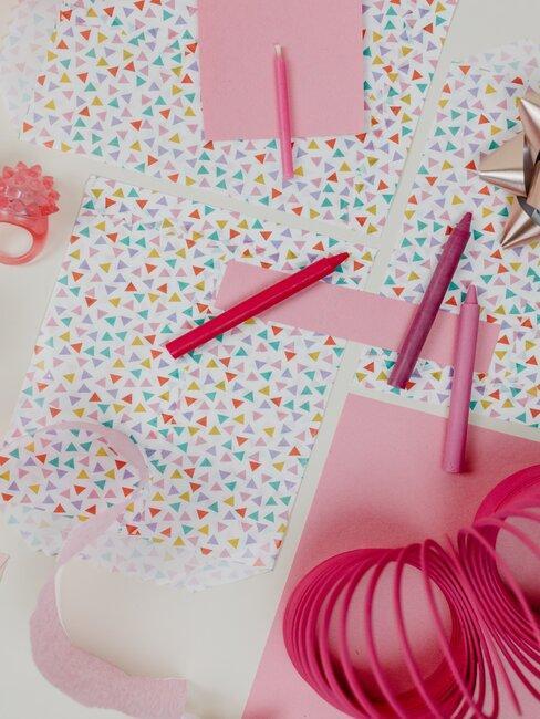papel de regalo rosa