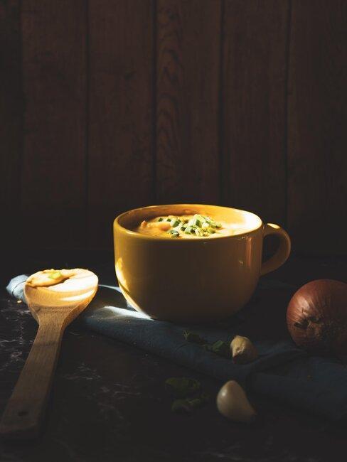 tazon con sopa