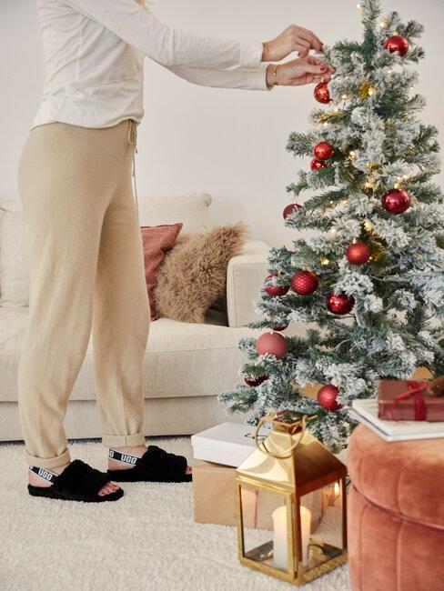 decorar árbol de navidad blanco