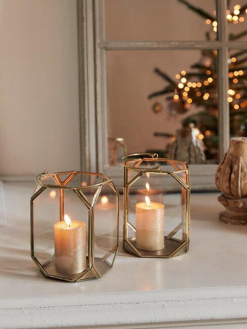 velas decoración de navidad