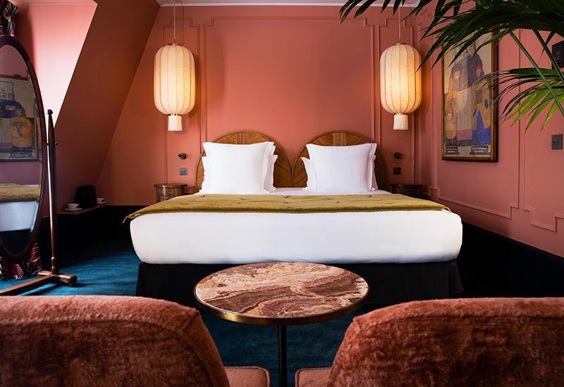 Hotel Monte Cristo Chambre avec mur terracotta