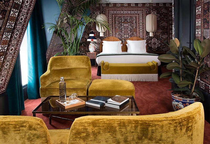 Hotel Monte Cristo Chambre avec canapé jaune