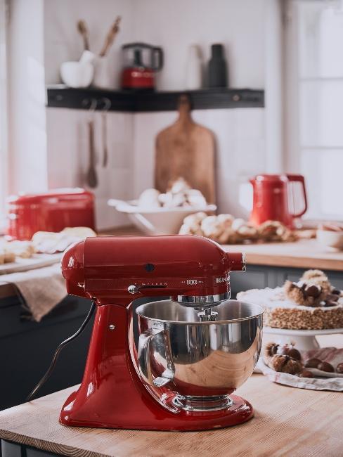 appareil à gateau kitchen aid rouge
