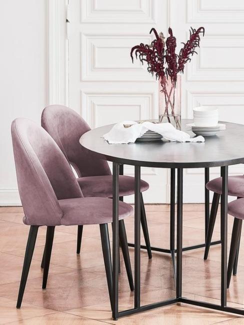 chaises pour salle à manger couleur lilas