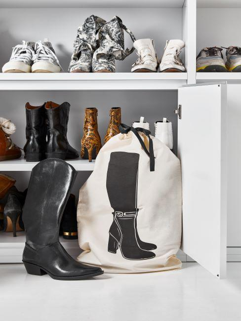 etagere pour chaussures blanche