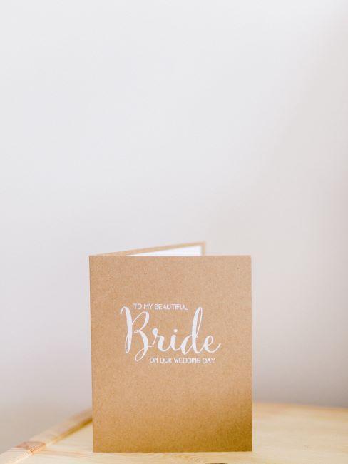 carte de féliciations pour un cadeau mariage civil