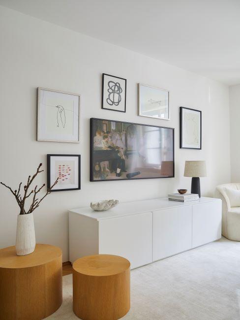 salon blanc, tableaux