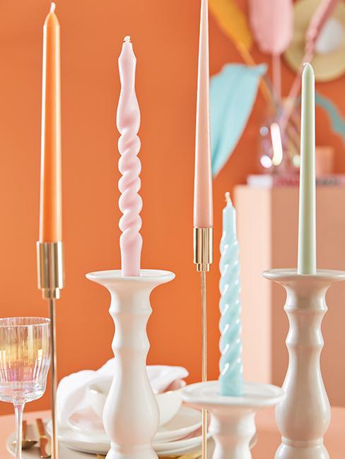 bougies colorées tendance
