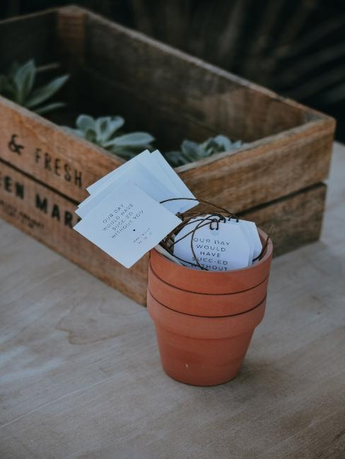 petit pot de plante avec mots