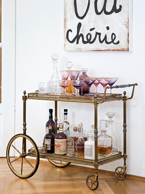 chariot de bar maison vintage