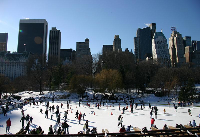 patinoire dans central park