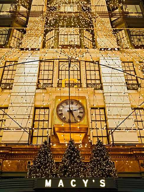 décoration façade Macys New York
