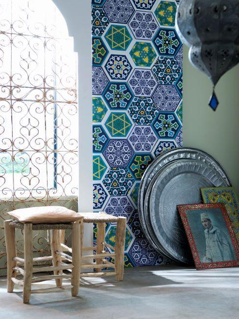 mosaïque sur le mur, tableaux marocains