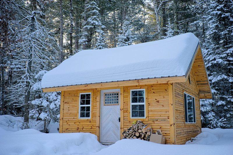 tiny house sous la neige