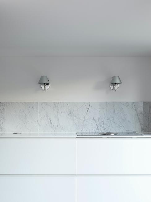 cuisine avec redence imitation marbre