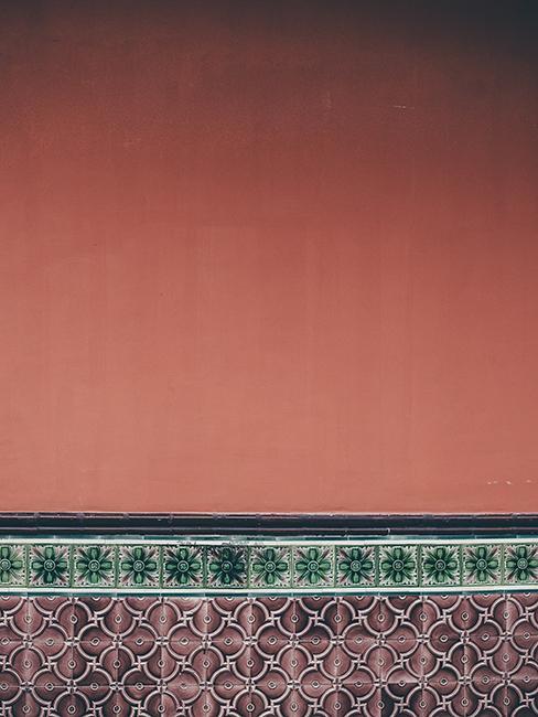 frise murale en carrelage