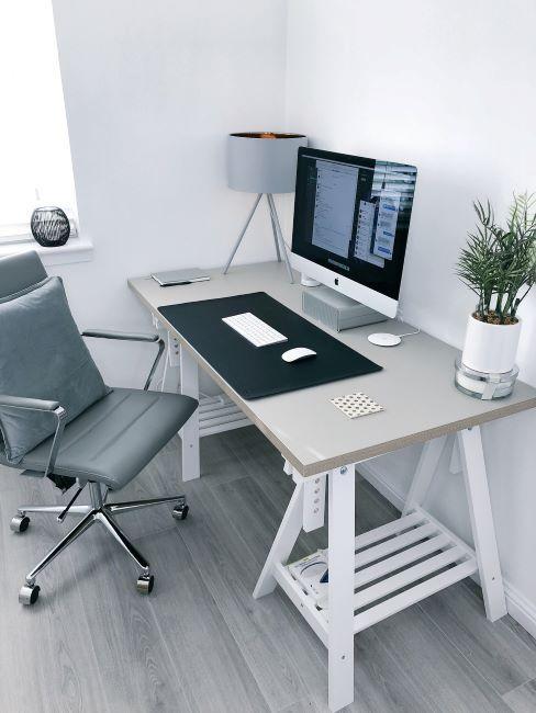bureau moderne gris