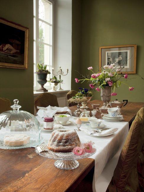table dressée style maison de campagne; rustique, champêtre