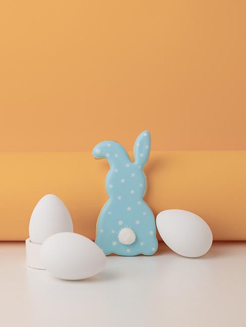 biscuit lapin avec glaçage bleu