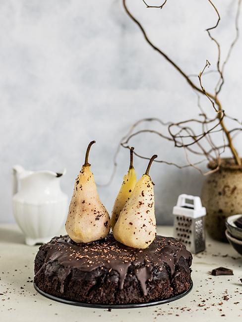 gateau chocolat avec poires