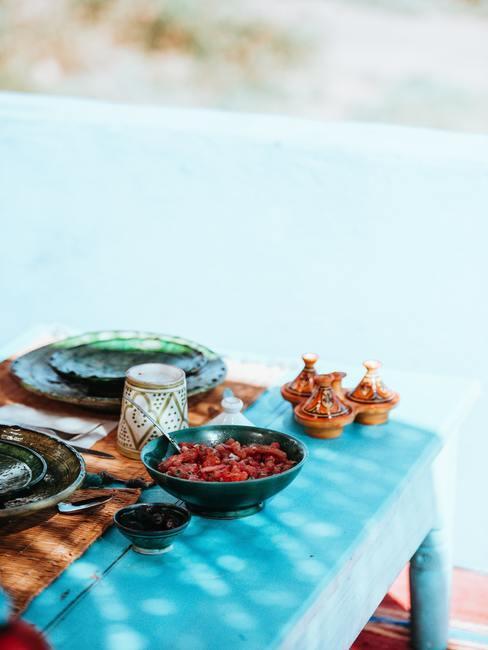 table bleue