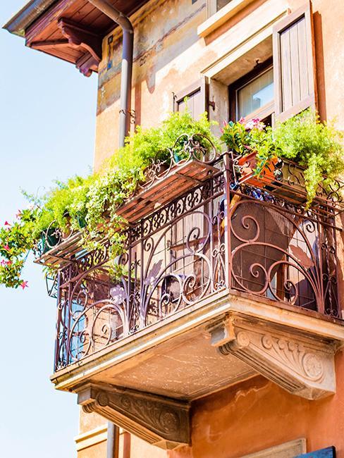 balcon avec jardinière