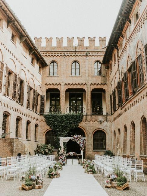 mariage dans un château