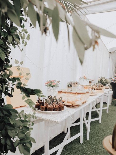 décoration de table de mariage style romantique vintage