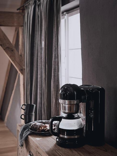 machine à café noir kitchenaid