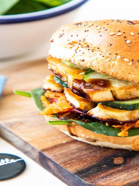 Foodette burger haloumi