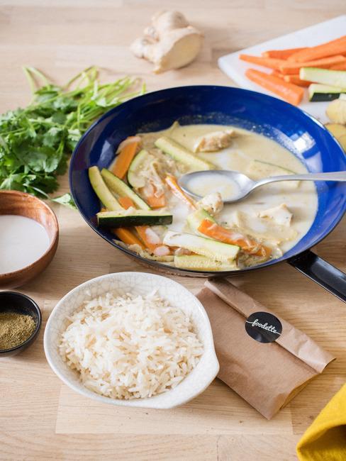 Foodette soupe curry poisson