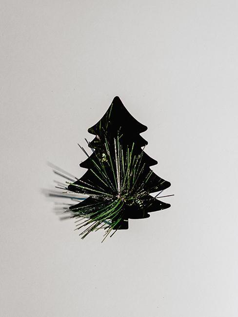 étiquette de Noël en forme de sapin