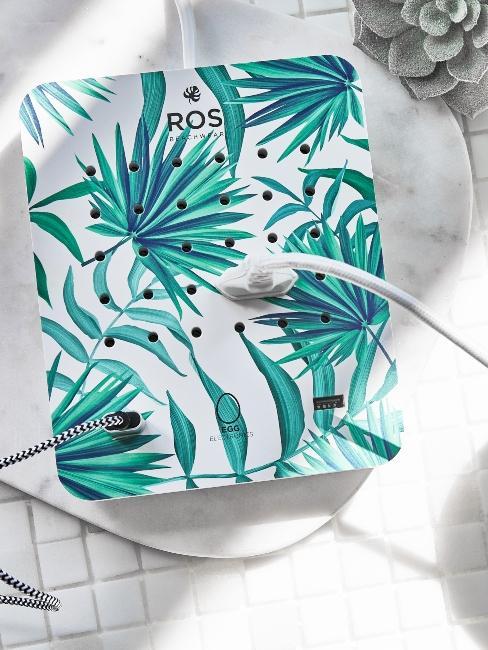 Chargeur de téléphone boite design motif tropical