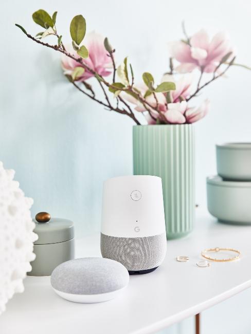 Appareil google home dans décoration d'intérieur