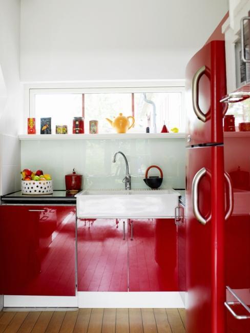 cuisine rouge moderne