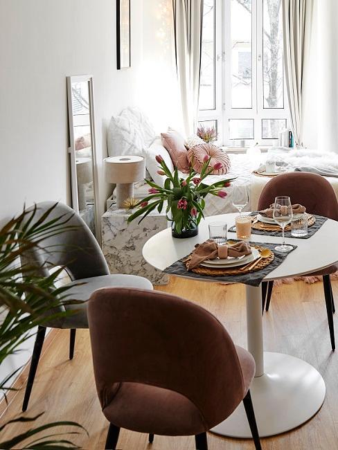 appartement 1 pièce avec salle à manger et salon