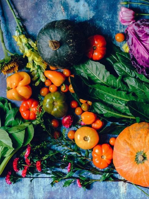 Divers legumes d'automne