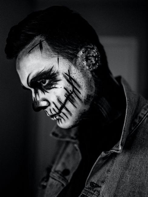 maquillage halloween pour homme