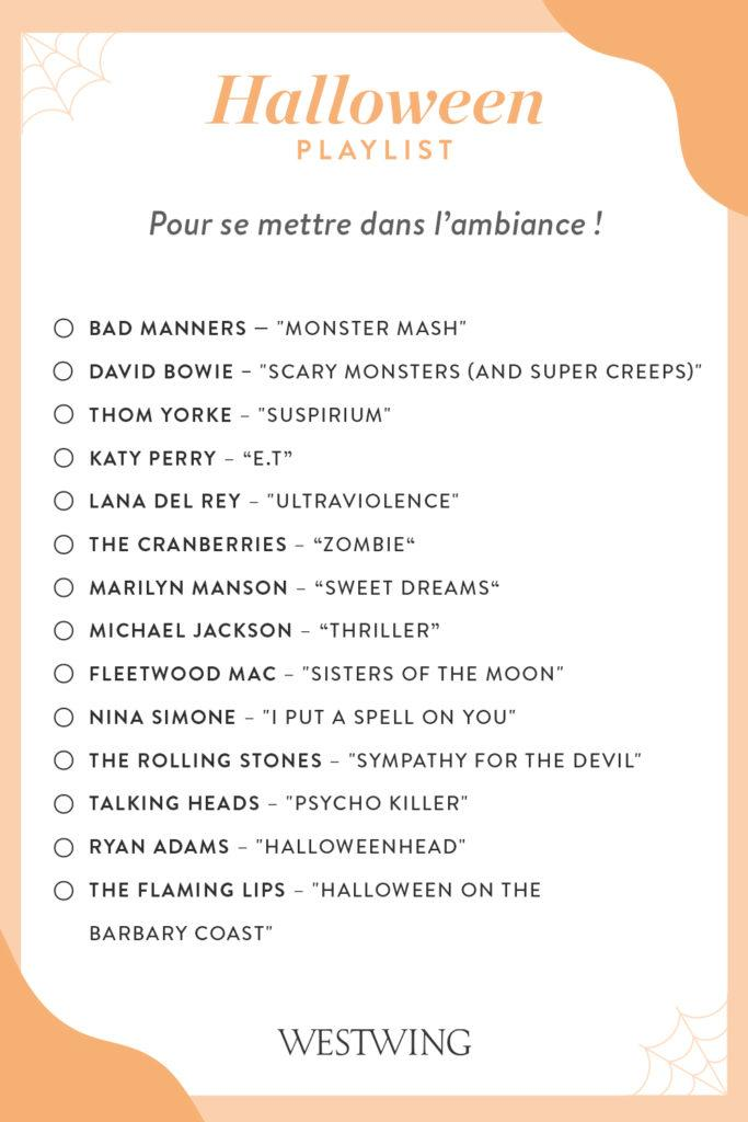 Liste de musique spéciale halloween