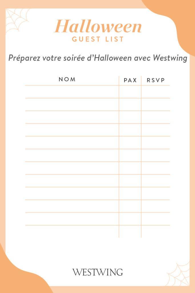 Liste To Do à faire pour préparer une fête d'Halloween
