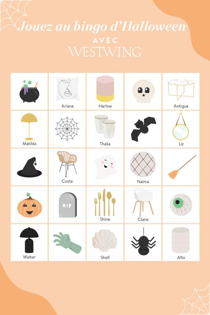 Jeu de bingo spécial Halloween