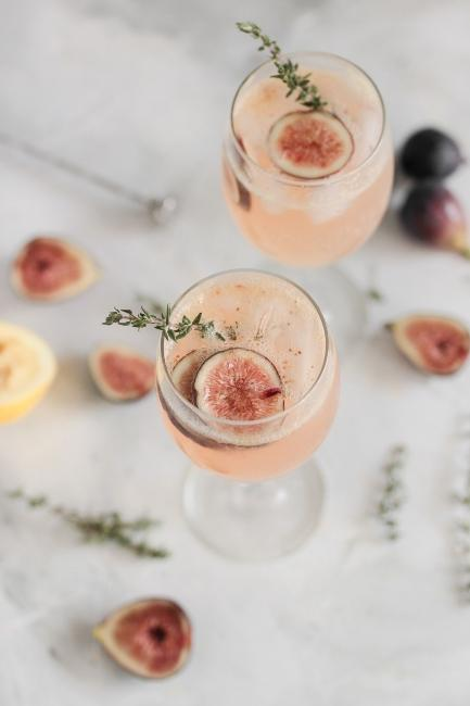 Idée de cocktail rosé