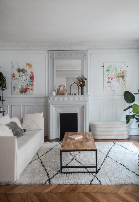 salon vintage et moderne dans appartement trendy de Dressingleeloo