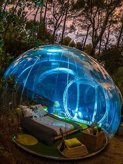 bulle transparente de nuit