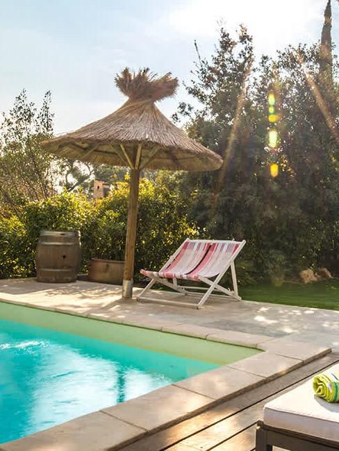 piscine et soleil
